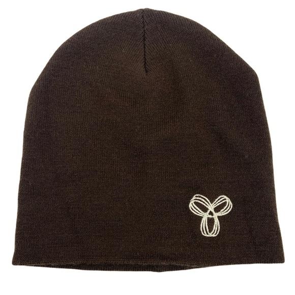Aritzia Chocolate Brown Wool Beanie TNA Toque Hat